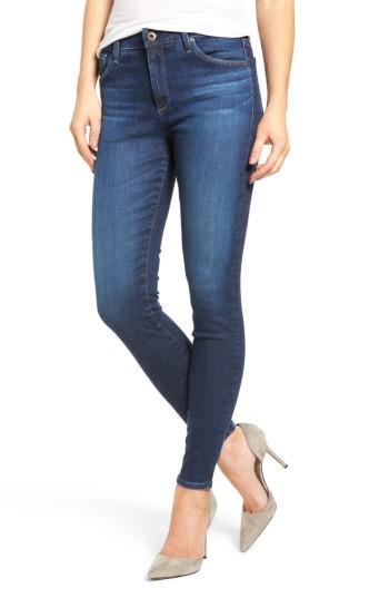 Ag 'the Farrah' High Rise Skinny Jeans In 9 Years-atlas