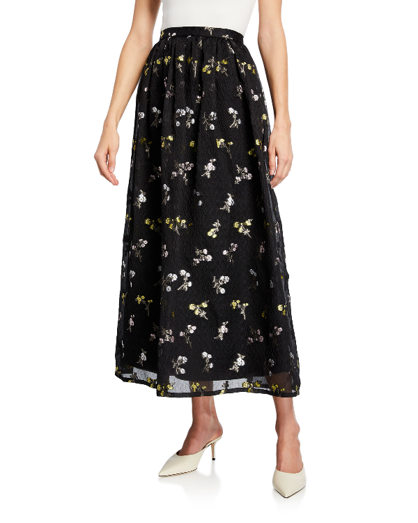034db2a4f89 St. John Floral Fil Coupe Organza Cloque Maxi Skirt In Multi | ModeSens