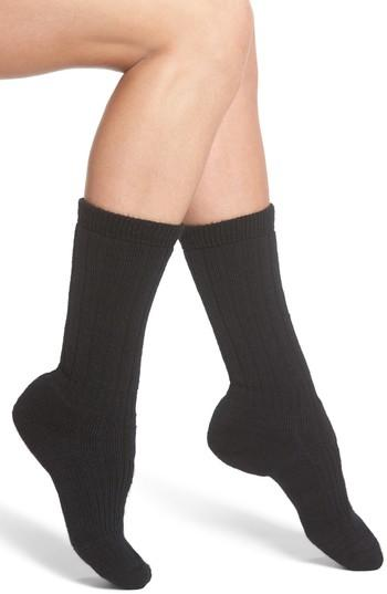 Wigwam Hiker Wool Blend Crew Socks In Black