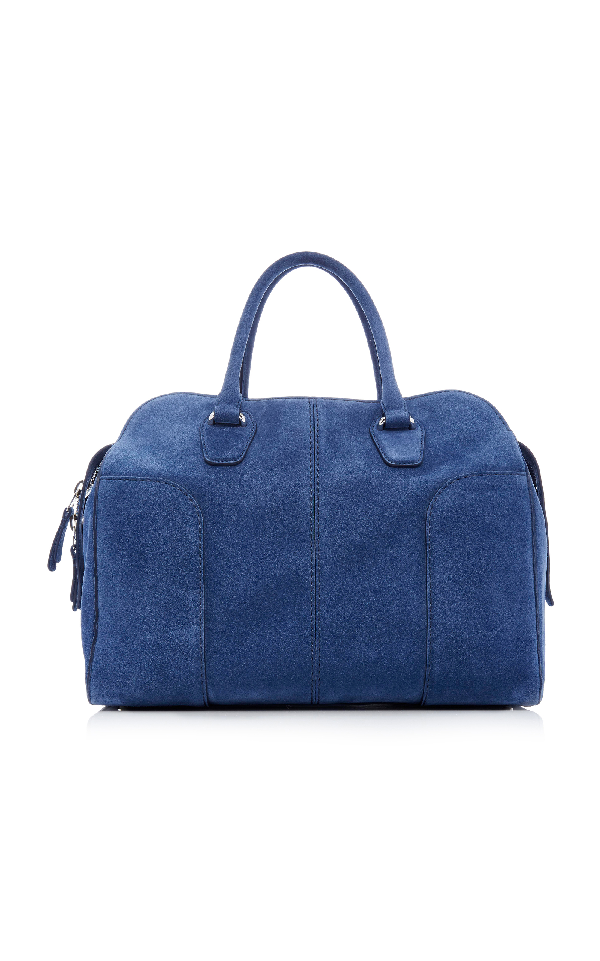 Tod's M'o Exclusive Soft Medium Satchel In Blue