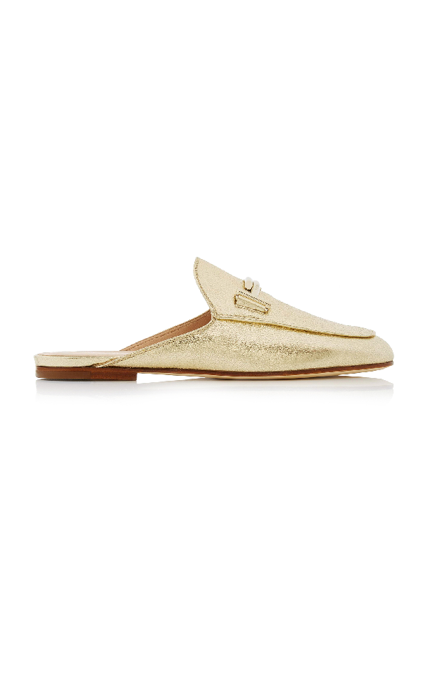 Tod's M'o Exclusive: Leather Sole Sabot In Gold