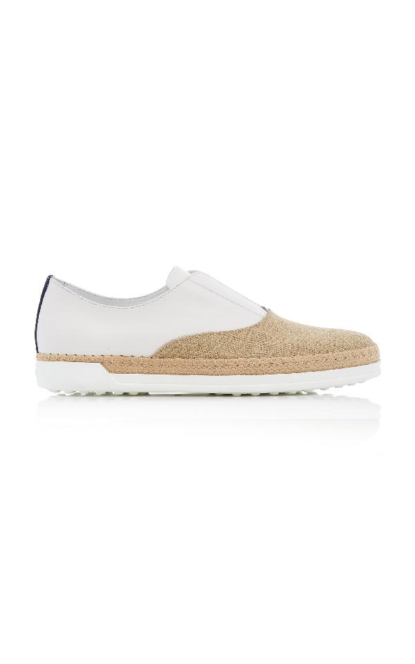 Tod's M'o Exclusive: Francesina Rafia Sneaker In White