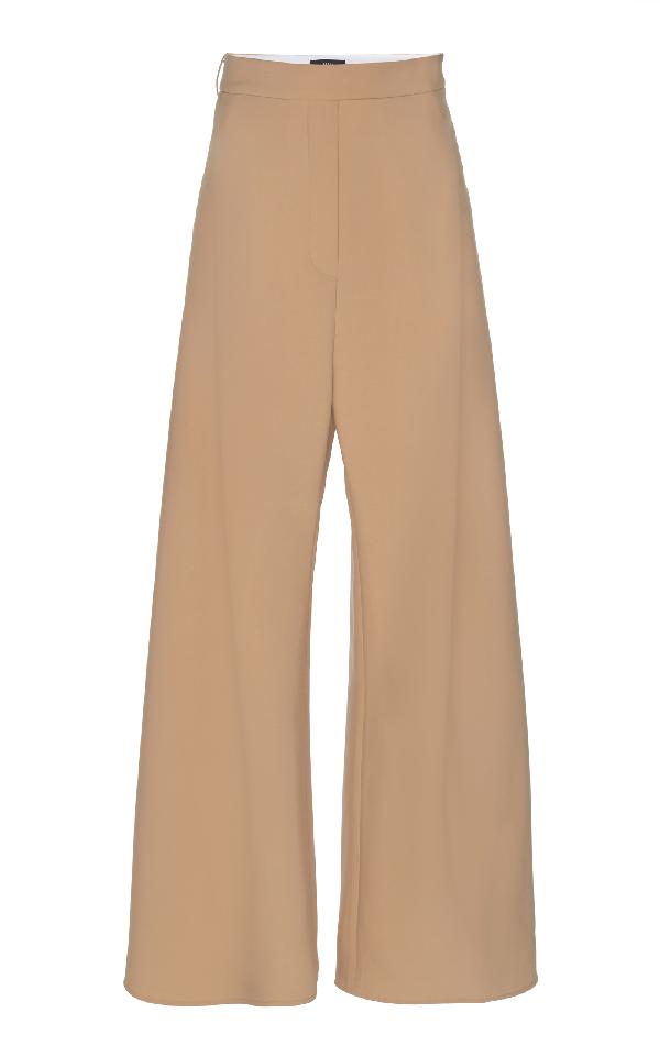 Ellery Venturi Wide Leg Pant In Brown
