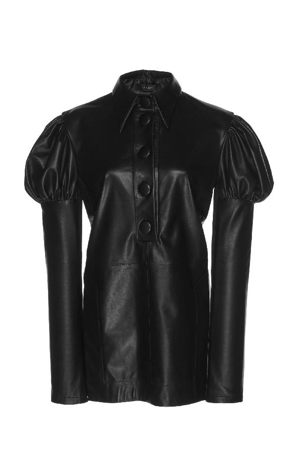 Ellery Breuer Leather Top In Black