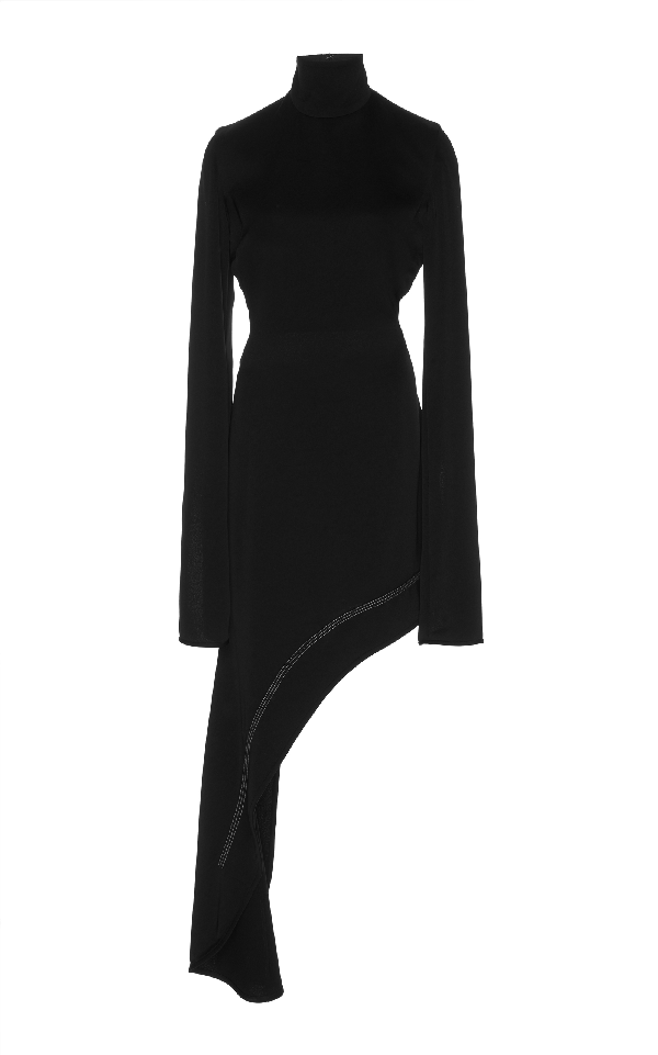 Ellery Bauhaus Asymmetrical Dress In Black