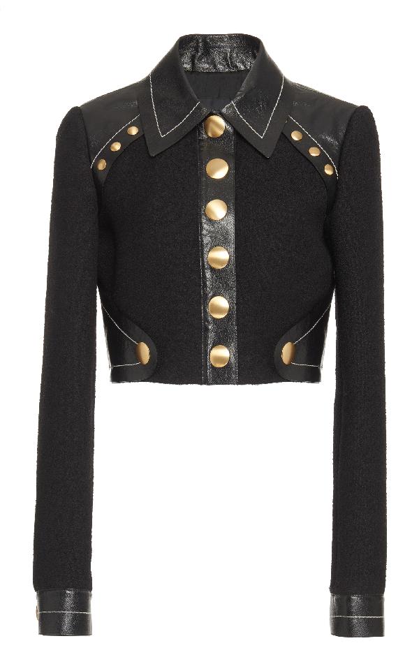 Proenza Schouler Cropped Jacket In Black