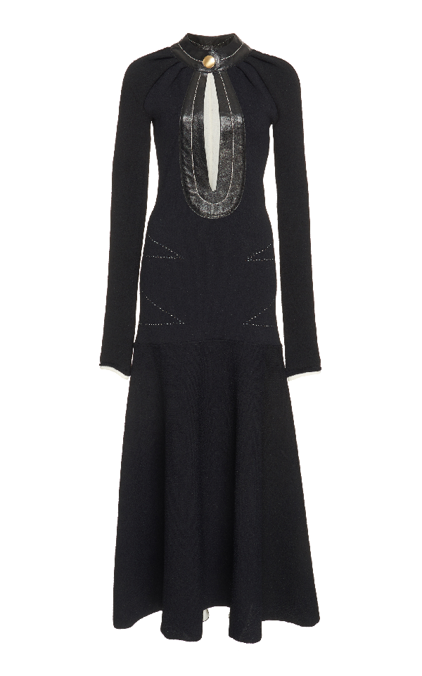 Proenza Schouler Long Knit Dress In Black