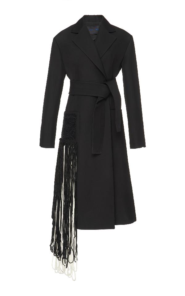 Proenza Schouler Long Wrap Coat In Black