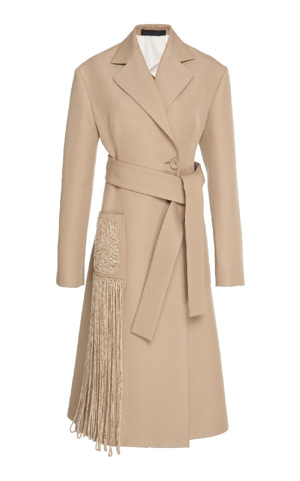 Proenza Schouler Long Wrap Coat In Neutral