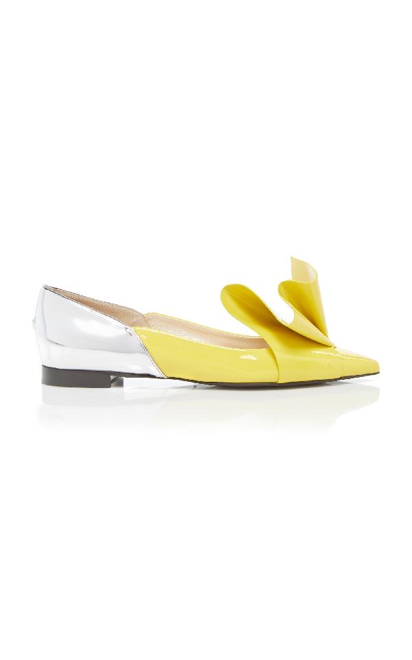 Delpozo Origami Loafer In Yellow