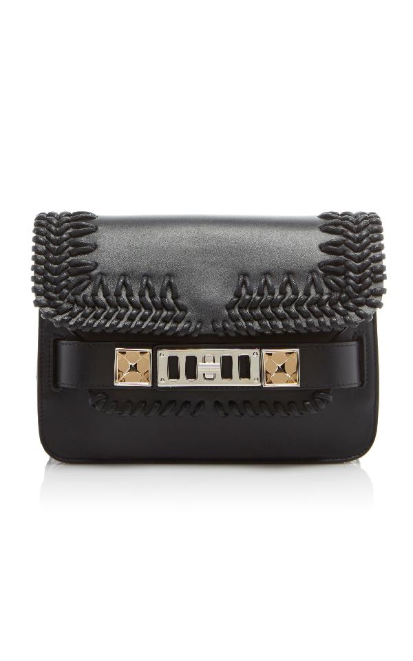 Proenza Schouler Ps11 Mini Classic Bag With Crochet In Black