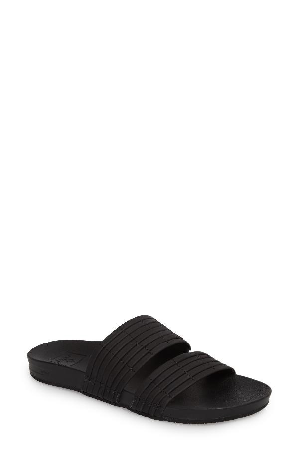Reef Cushion Bounce Slide Sandal In Black