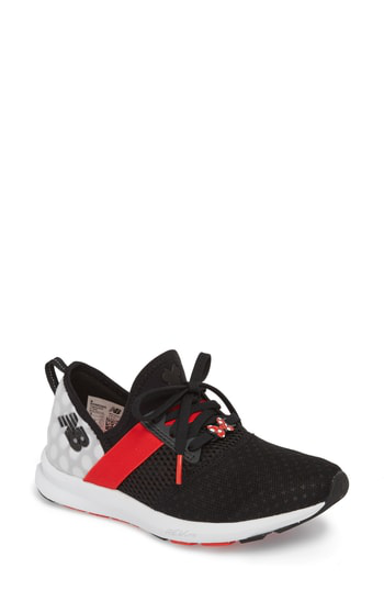 New Balance X Disney Fuelcore Nergize Sneaker In Black/ Red