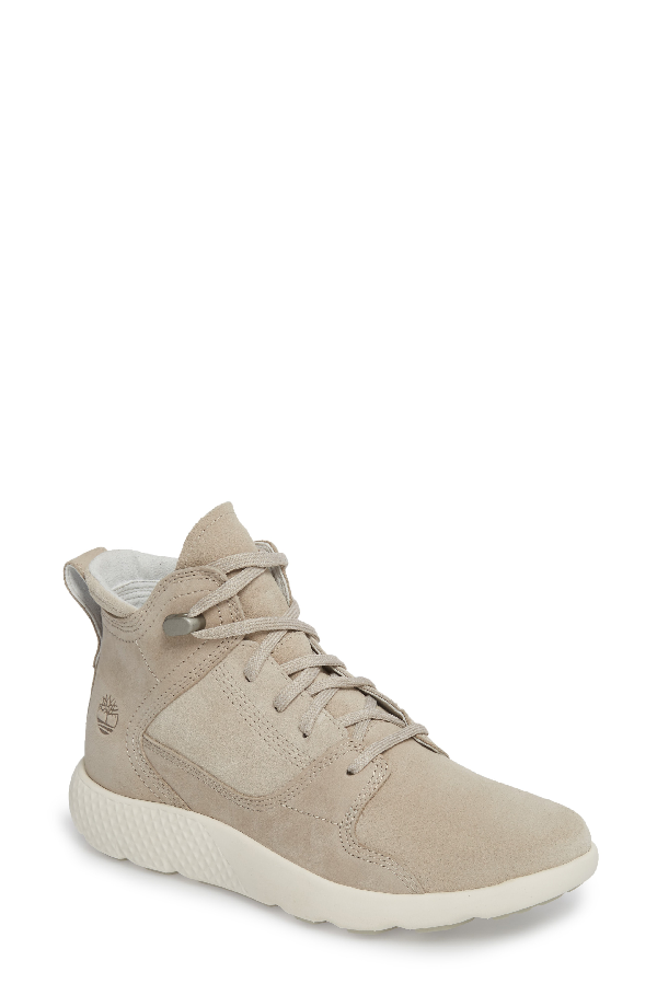 Timberland Flyroam Sneaker In Pure Cashmere Leather