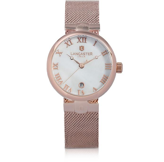 Lancaster Chimaera Rose Gold Stainless Steel Watch In Pink