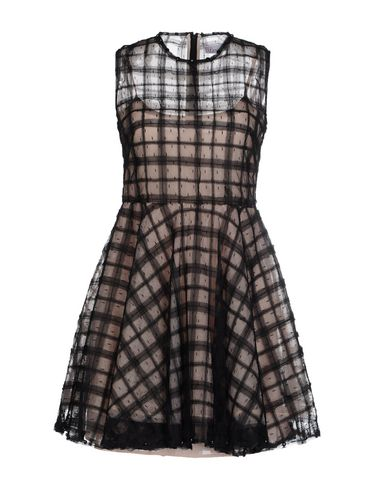 Red Valentino Short Dress In Black
