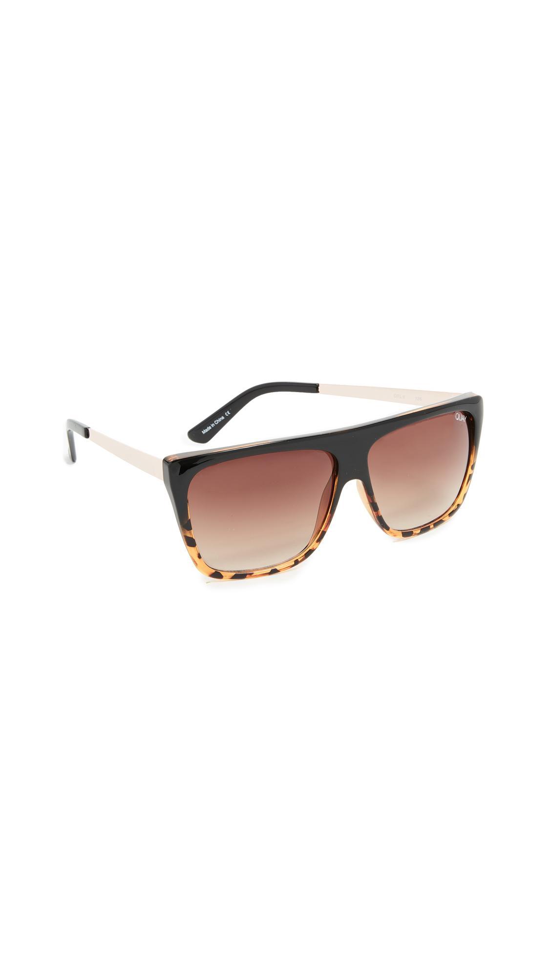 93d2122b2ba Quay X Desi Perkins Otl Ii Sunglasses In Black Fade Brown