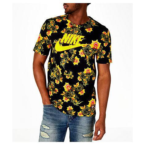 410695a0 Nike Men's Sportswear Floral T-Shirt, Black | ModeSens