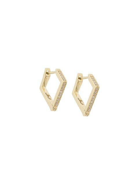 Lizzie Mandler Fine Jewelry 18kt Gold 'huggies' Diamond Earrings In Metallic