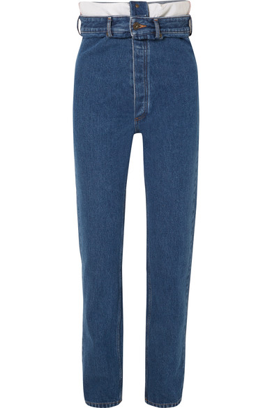 Y/project High-rise Straight-leg Jeans In Mid Denim