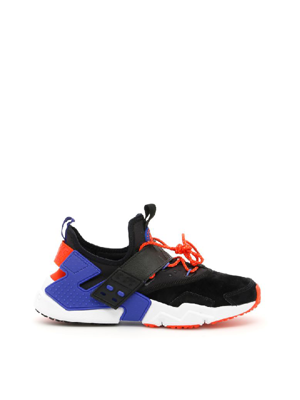 in stock 0ddd3 5a494 Nike Air Huarache Drift Premium Black And Blue Sneakers