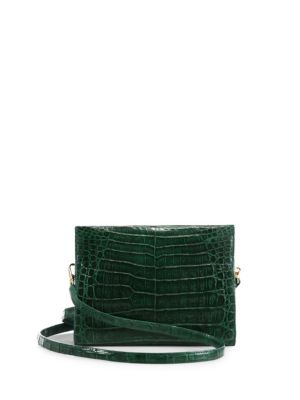 Nancy Gonzalez Small Crocodile Clutch In Green