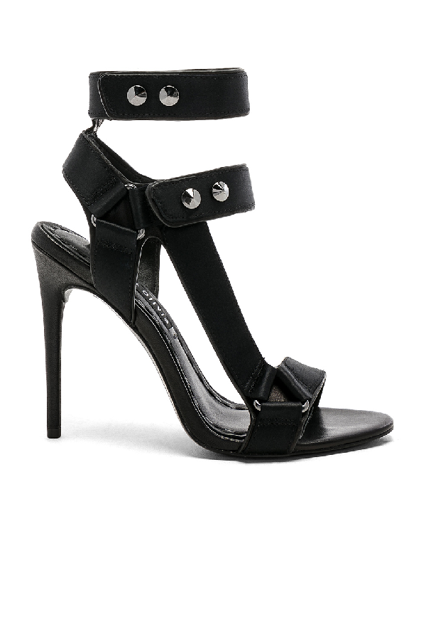 Alice And Olivia Tamryn Studded Ankle Strap Sandal In Black