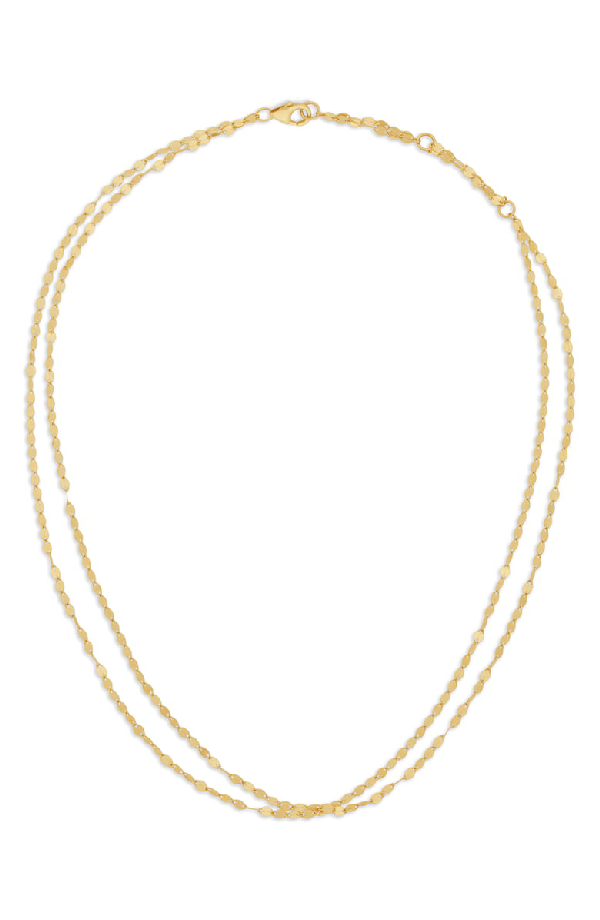 Lana Double Blake Chain Choker Necklace In White Gold