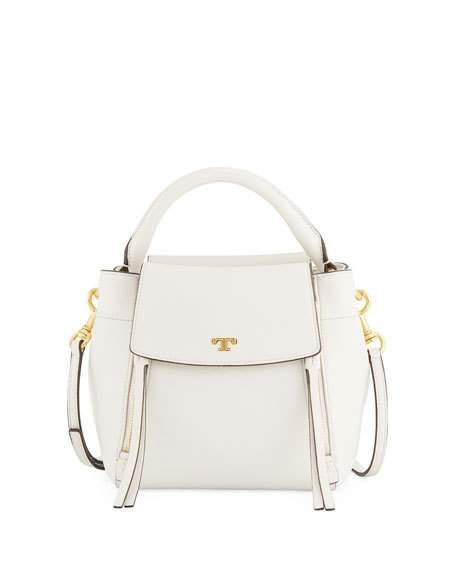 6e93a7ea6736 Tory Burch Small Half Moon Leather Crossbody Bag - Ivory In White ...