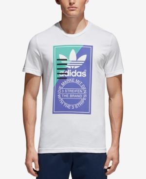 Adidas Originals Tongue Label T-Shirt In White