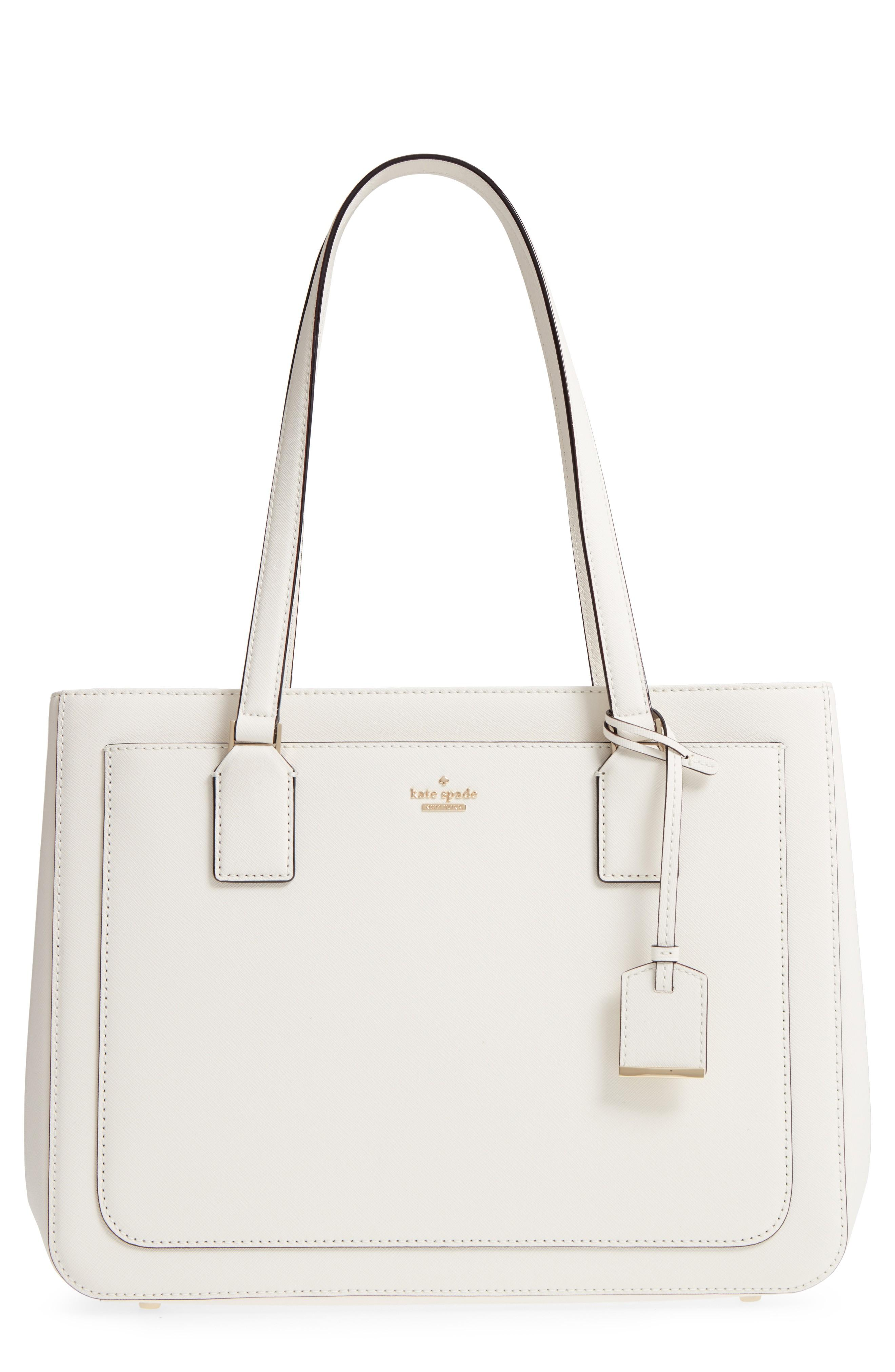 a01d516fa984b Kate Spade Cameron Street - Lottie Leather Satchel - White In Cement ...