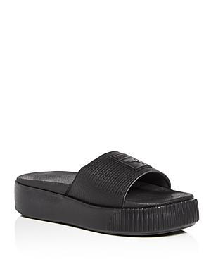 77f8f04fd Puma Women S Platform Pool Slide Sandals In Black