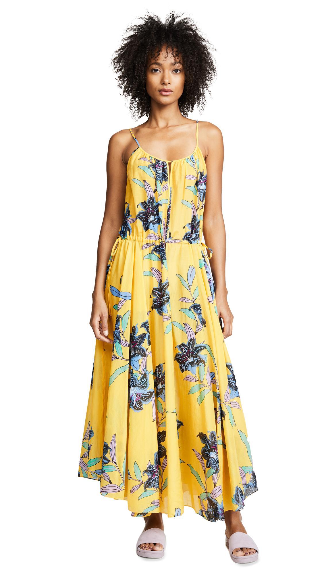 Diane Von Furstenberg Floral-Print Cotton And Silk-Blend Gauze Maxi Dress In Marigold