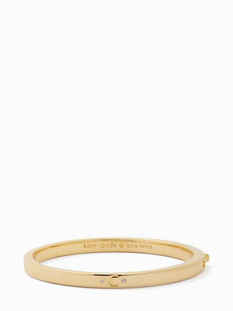Kate Spade One In A Million Initial Bangle In C