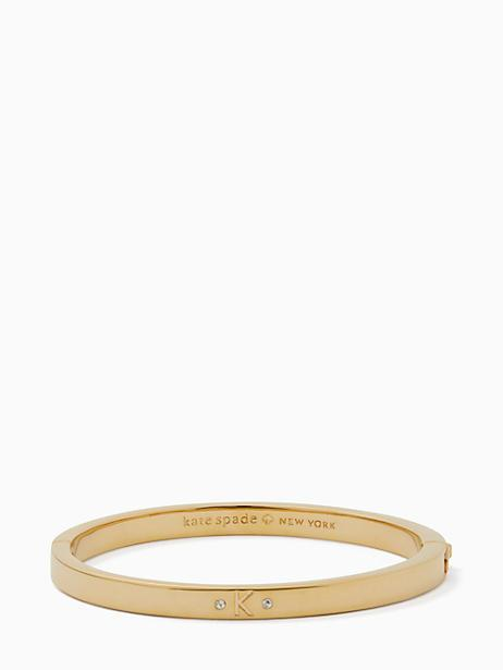 Kate Spade One In A Million Initial Bangle In K