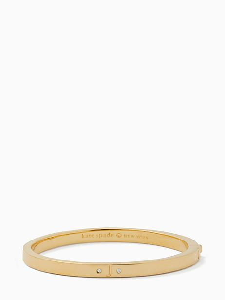 Kate Spade One In A Million Initial Bangle In J