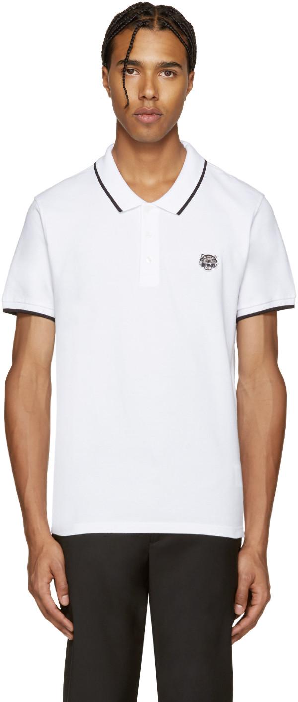 Kenzo Tiger Polo Shirt In White