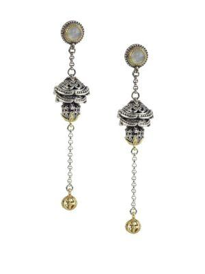 Konstantino Erato Labradorite, 18K Yellow Gold And Sterling Silver Dangle Earrings