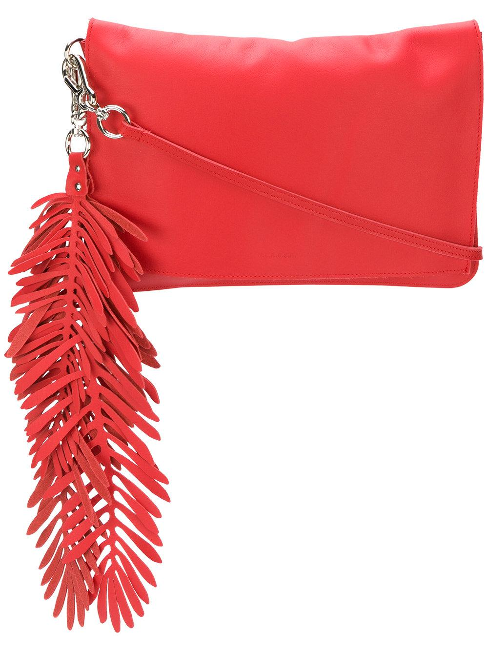 06797bfbe4 P.A.R.O.S.H. Coral Clutch Bag - Red