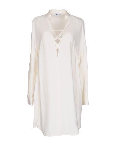 Dondup Short Dress In Ivory