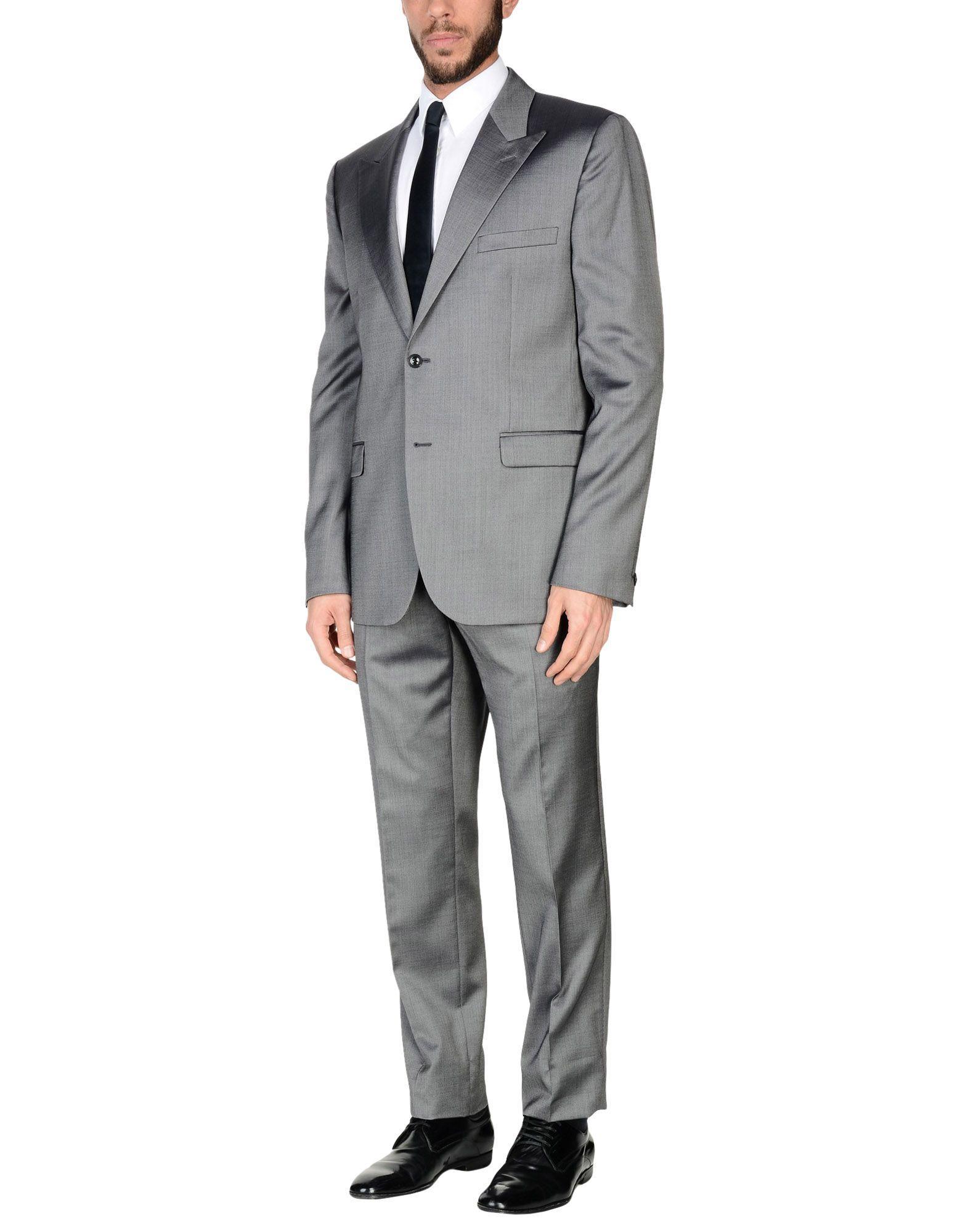 Versace Suits In Grey