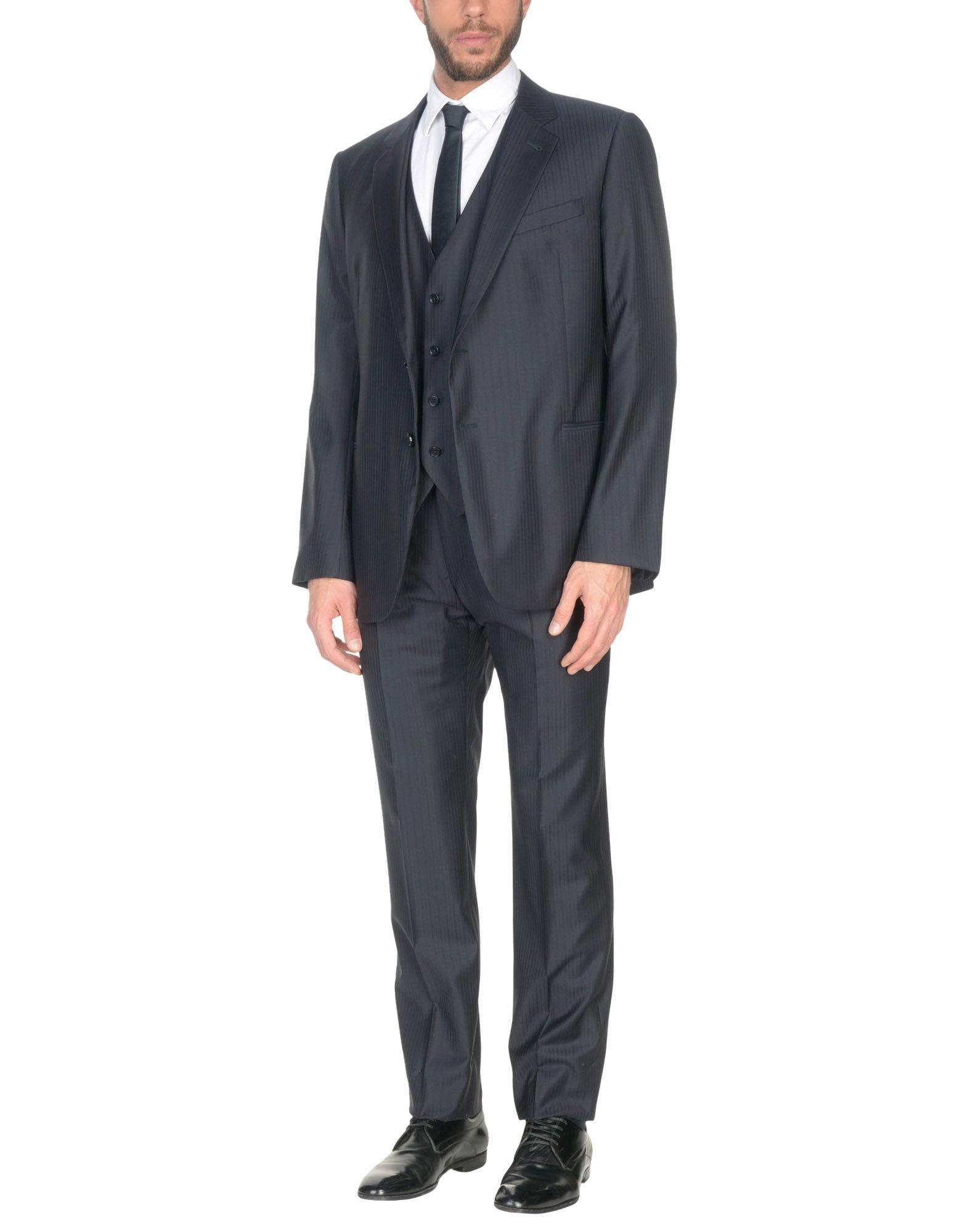 Armani Collezioni Suits In Dark Blue