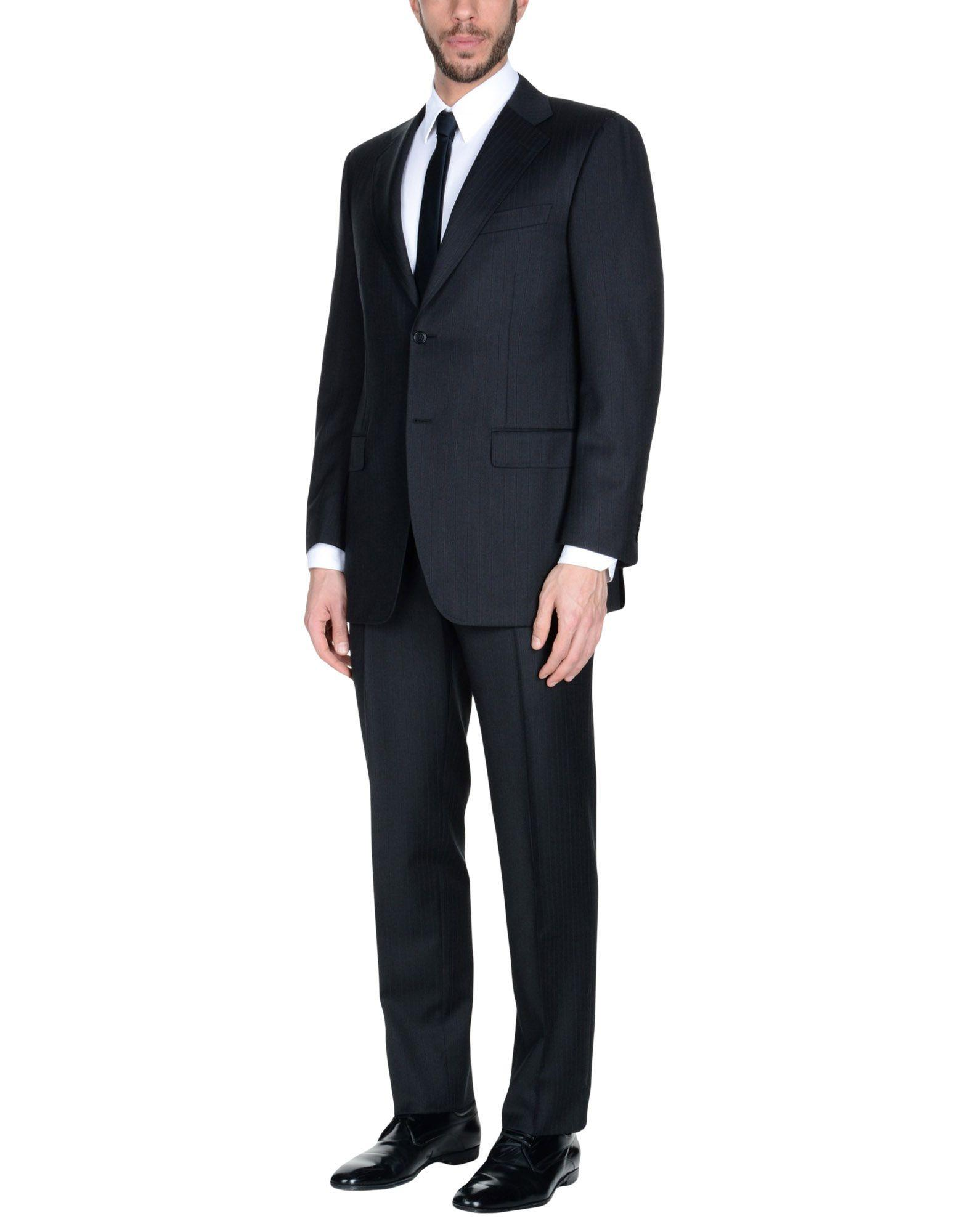 Canali Suits In Steel Grey