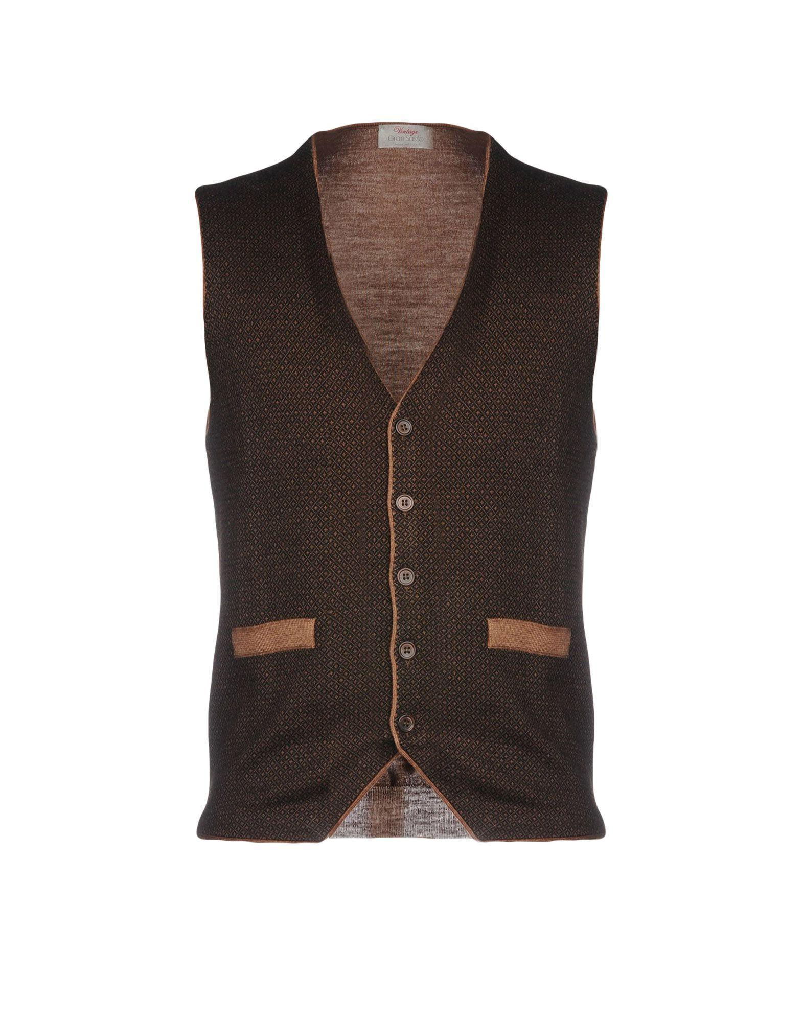 Gran Sasso Cardigan In Dark Brown