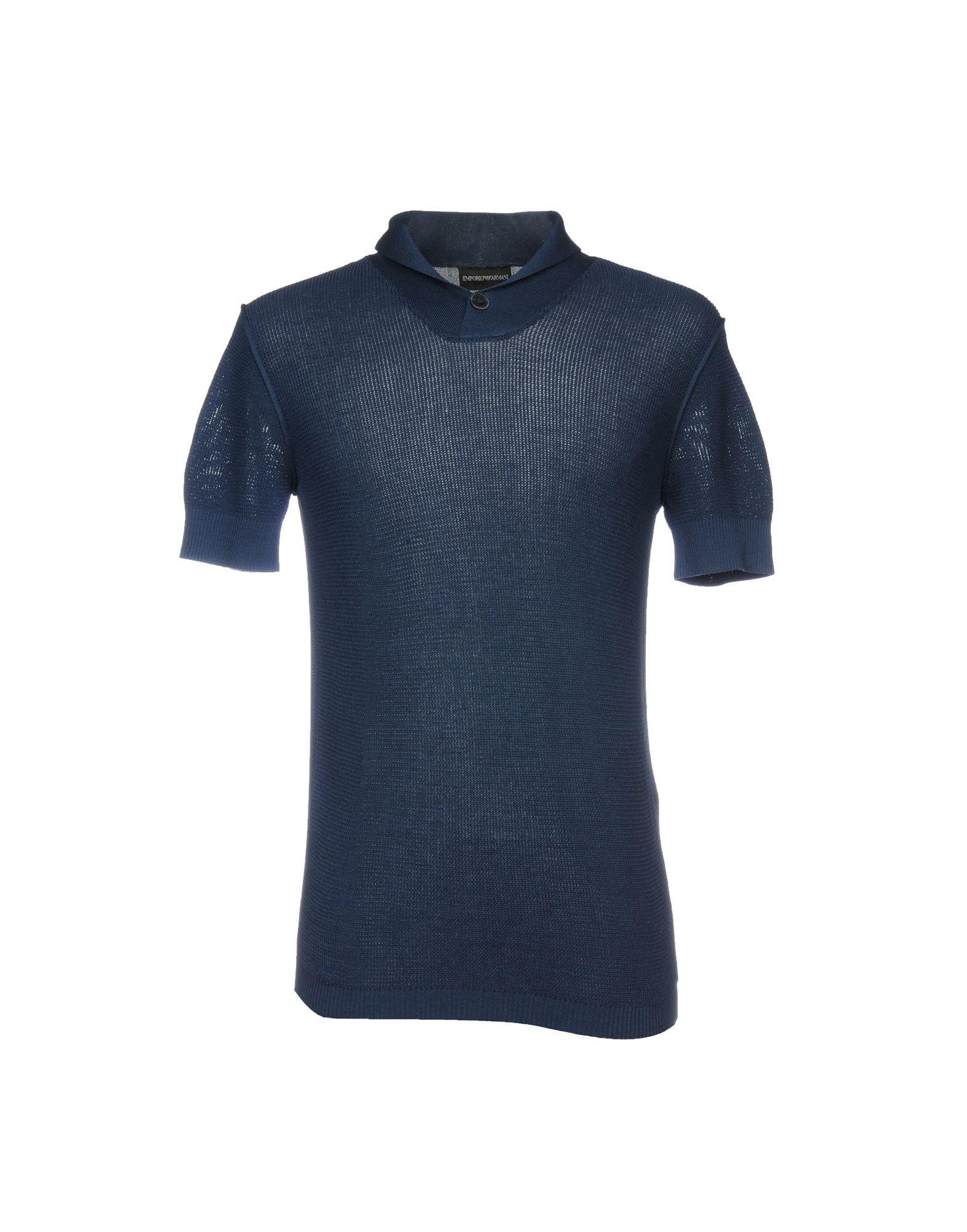 Emporio Armani Sweater In Slate Blue