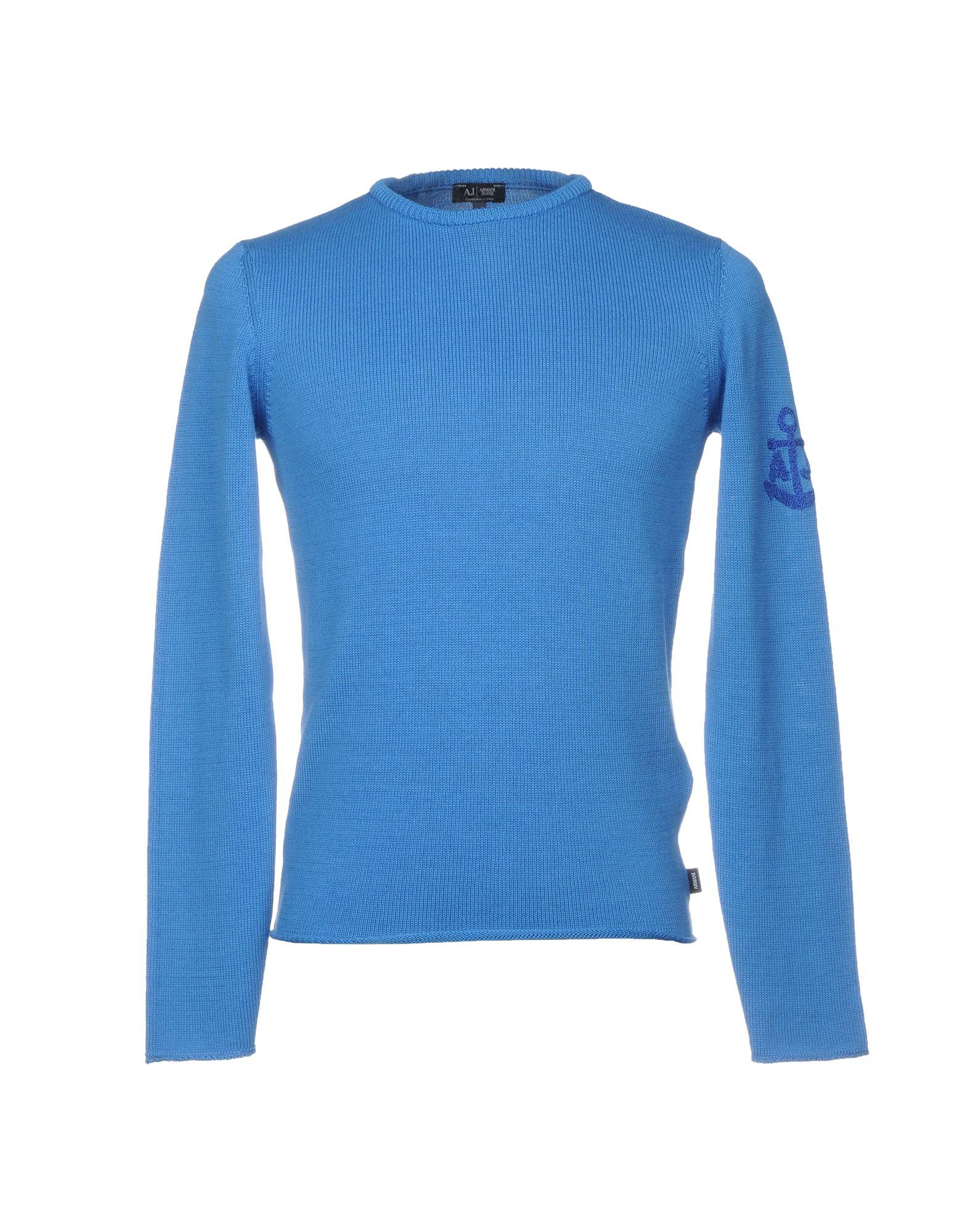 Armani Jeans Sweater In Bright Blue