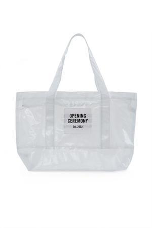 Opening Ceremony Medium Pvc Mesh Tote Bag In White