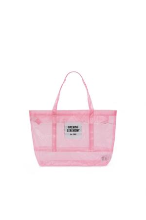 Opening Ceremony Small Pvc Mesh Tote Bag In Pearl Pink