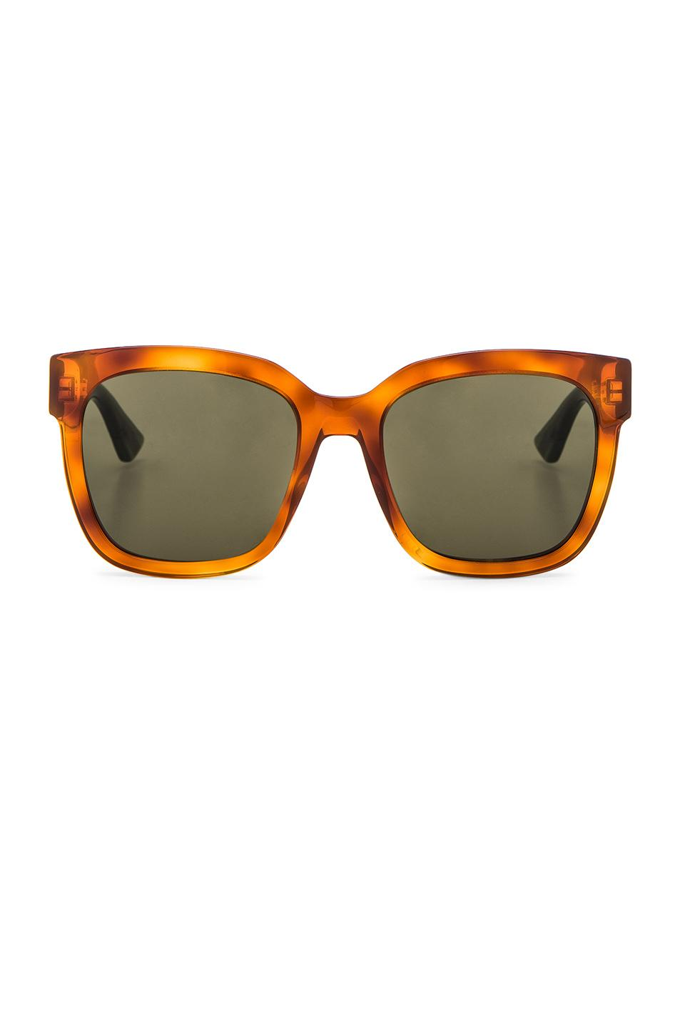 Gucci Urban Pop Web Sunglasses In Red,orange