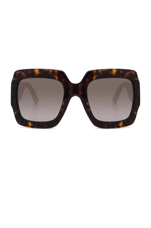 Gucci Pop Glitter Sunglasses In Brown,animal Print